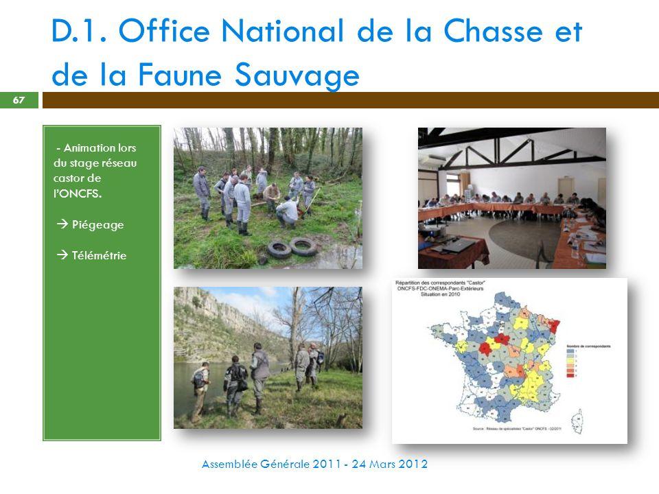 D.1. Office National de la Chasse et de la Faune Sauvage