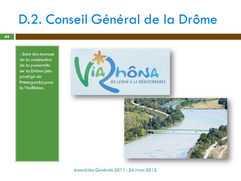D.2. Conseil Général de la Drôme