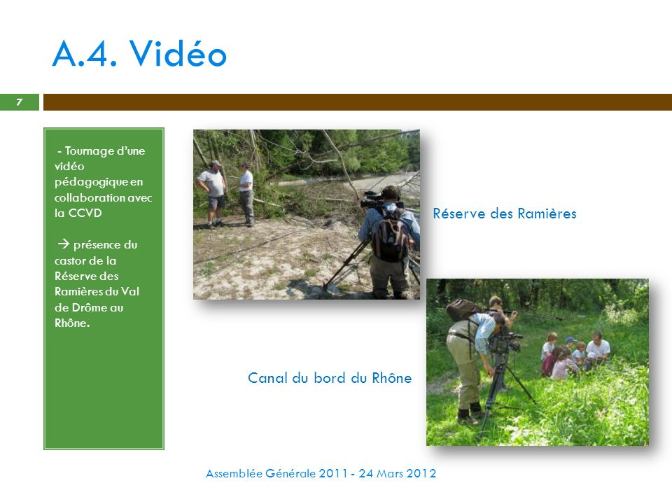 A.4. Vidéo Réserve des Ramières Canal du bord du Rhône