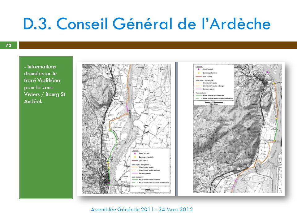 D.3. Conseil Général de l'Ardèche