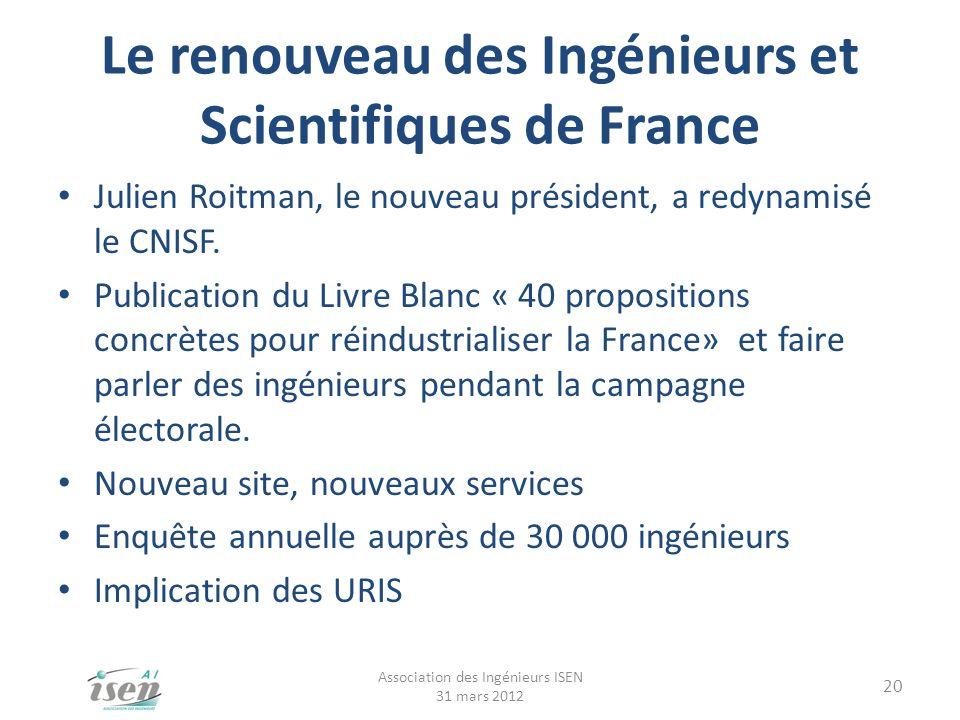 Le renouveau des Ingénieurs et Scientifiques de France