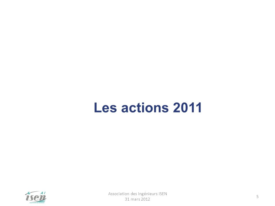 Association des Ingénieurs ISEN 31 mars 2012