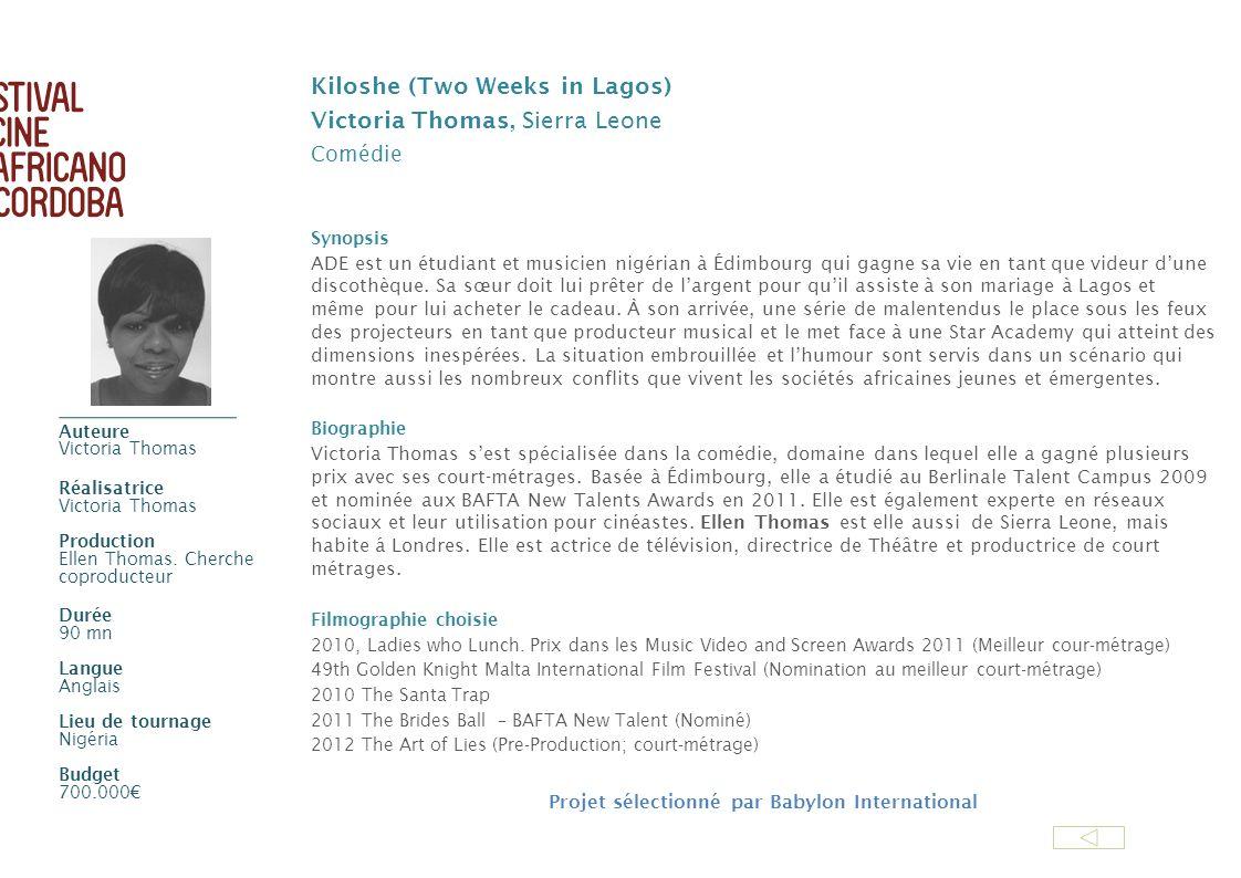 Kiloshe (Two Weeks in Lagos) Victoria Thomas, Sierra Leone Comédie