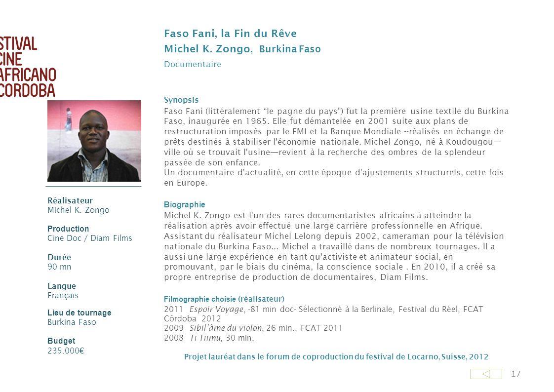 Michel K. Zongo, Burkina Faso