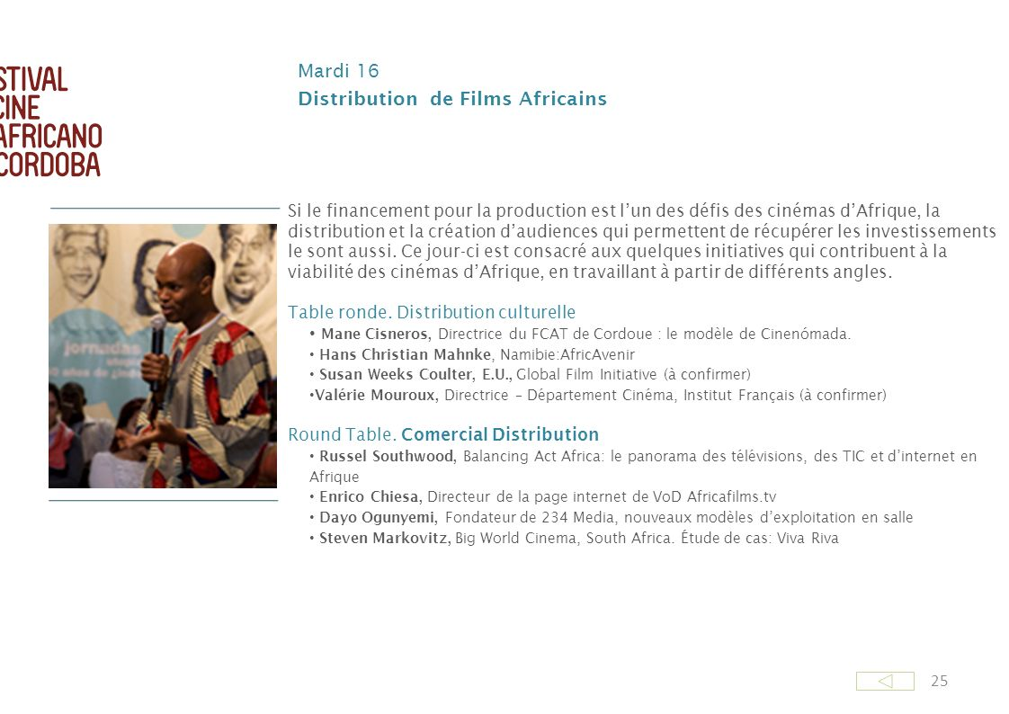 Distribution de Films Africains