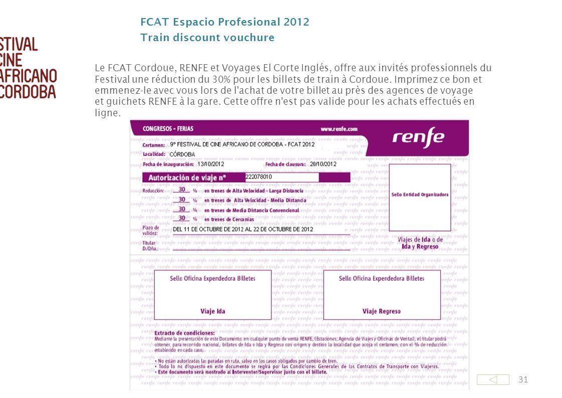 FCAT Espacio Profesional 2012 Train discount vouchure