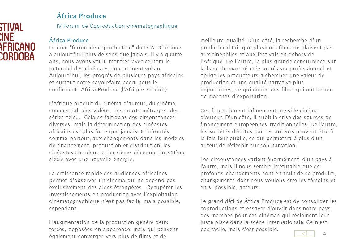 África Produce IV Forum de Coproduction cinématographique
