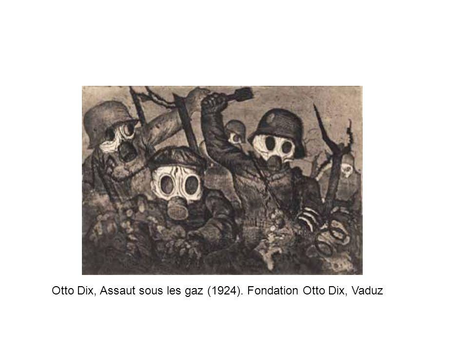 Otto Dix, Assaut sous les gaz (1924). Fondation Otto Dix, Vaduz