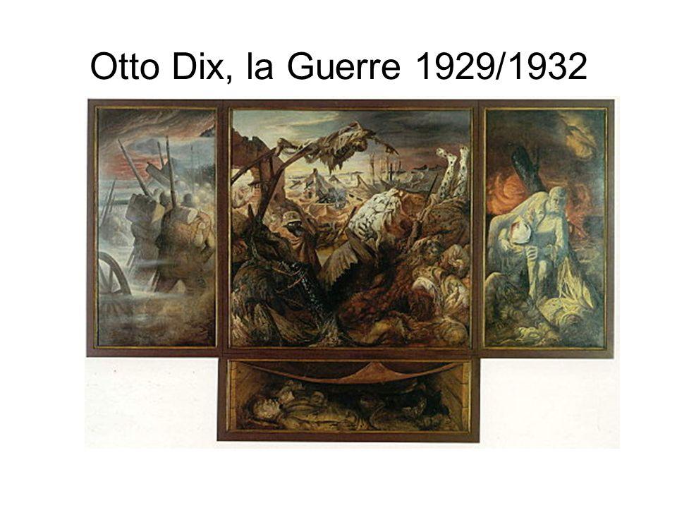 Otto Dix, la Guerre 1929/1932