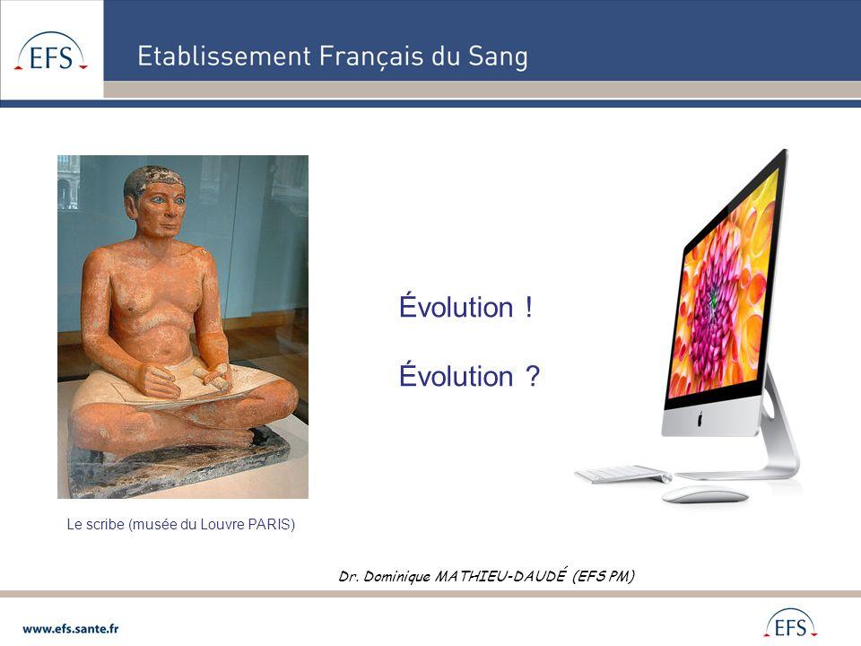 Évolution ! Évolution Le scribe (musée du Louvre PARIS)