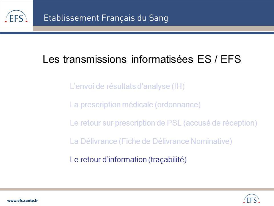 Les transmissions informatisées ES / EFS