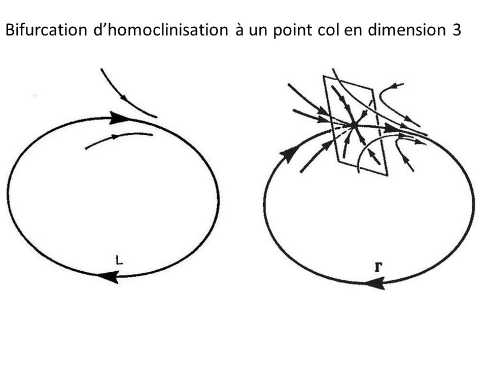 Bifurcation d'homoclinisation à un point col en dimension 3