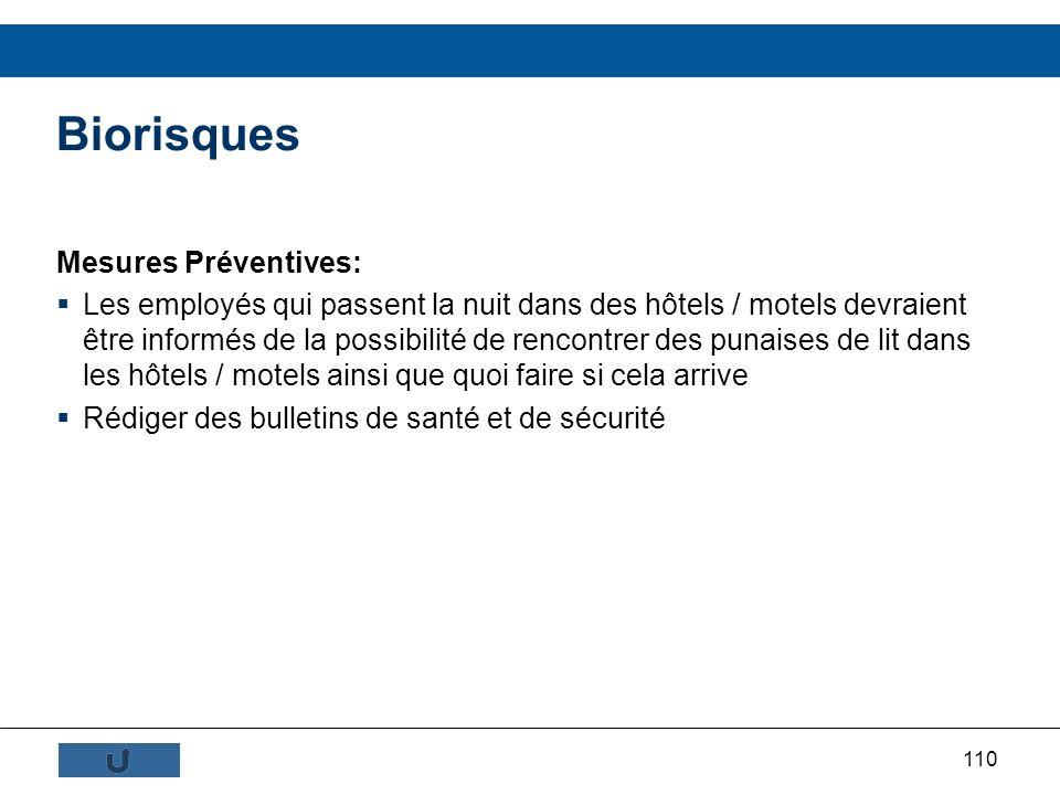 Biorisques Mesures Préventives: