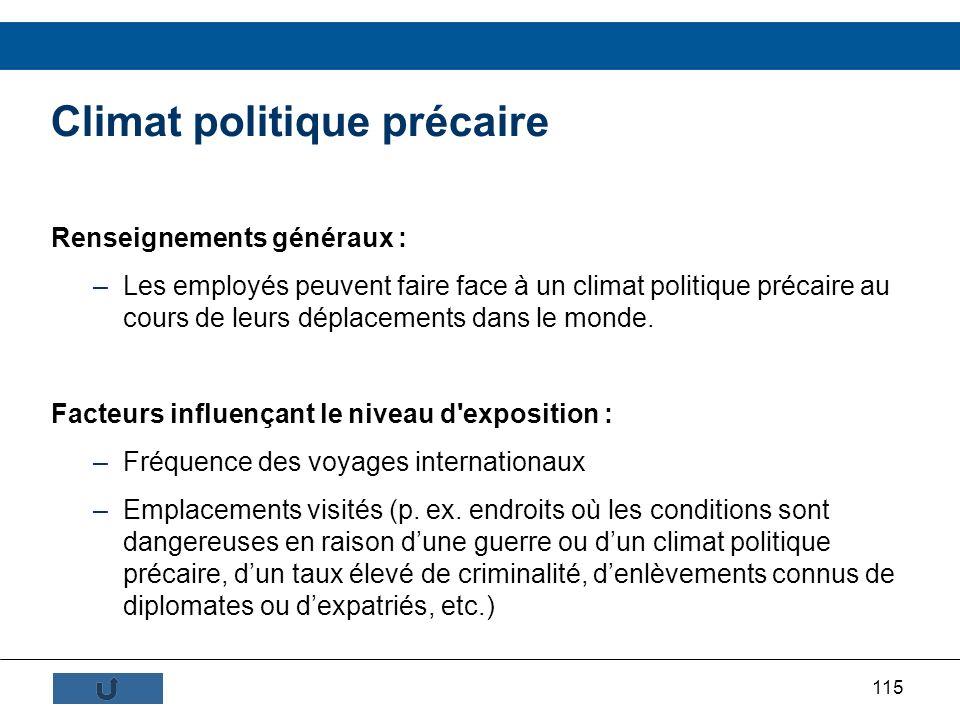 Climat politique précaire