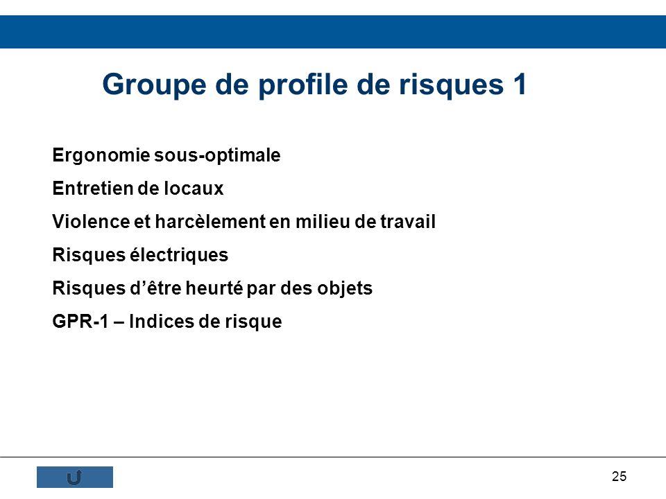 Groupe de profile de risques 1