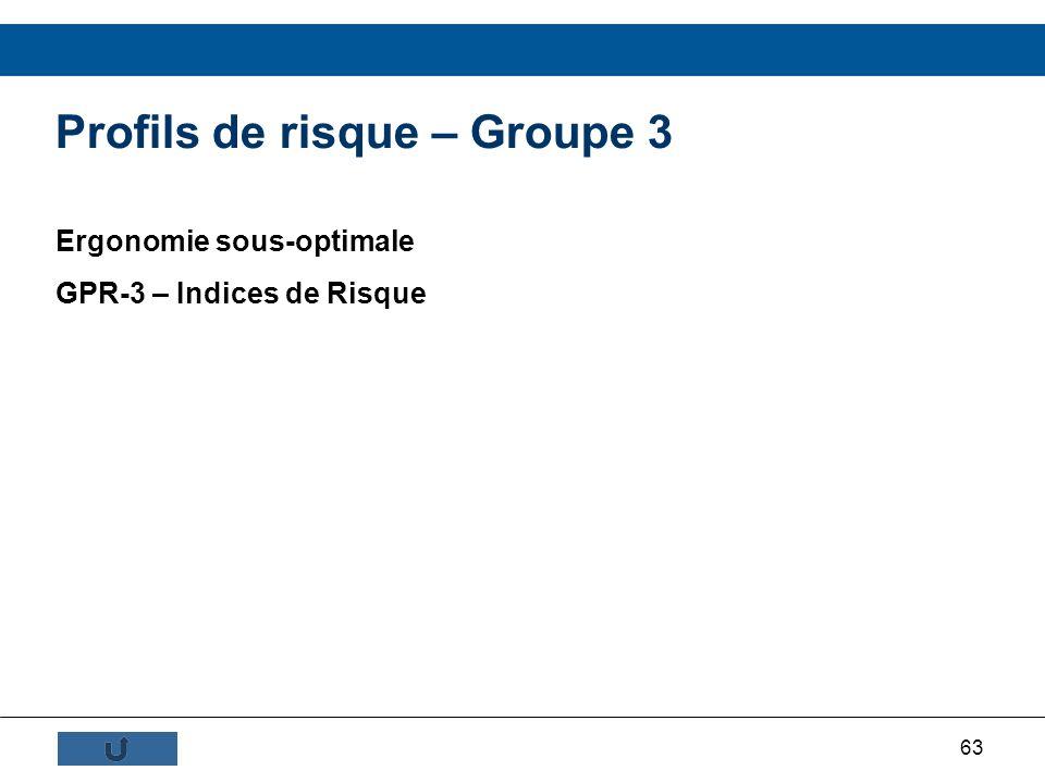 Profils de risque – Groupe 3
