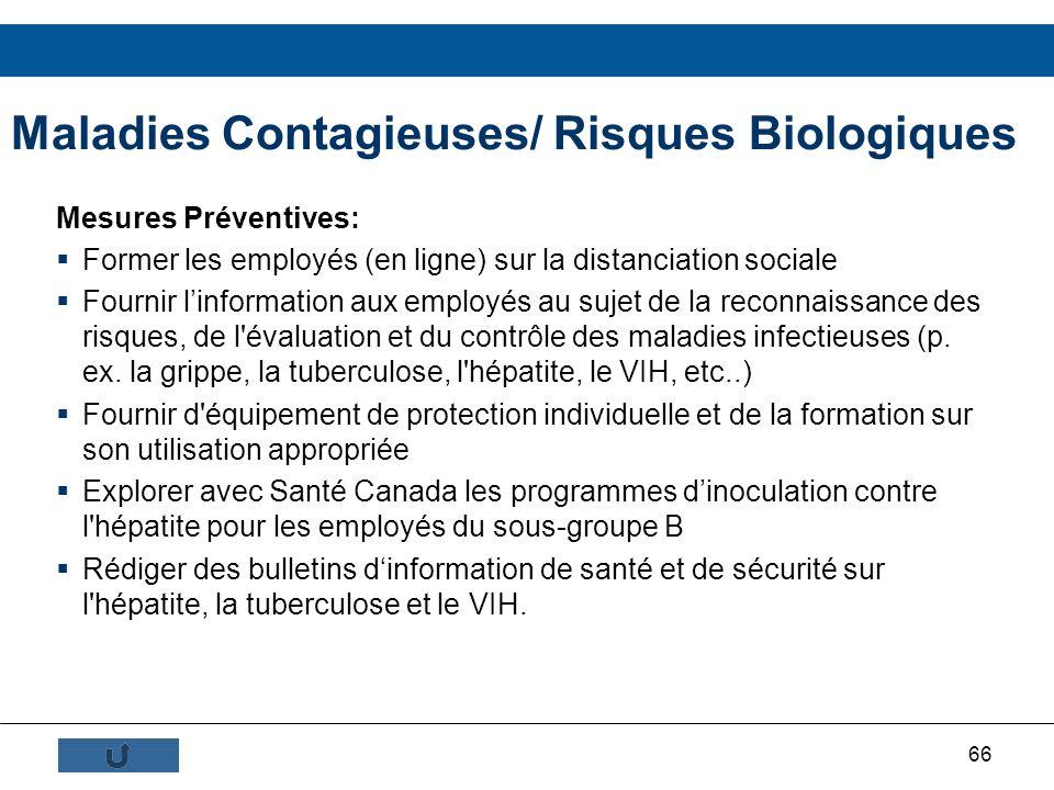 Maladies Contagieuses/ Risques Biologiques