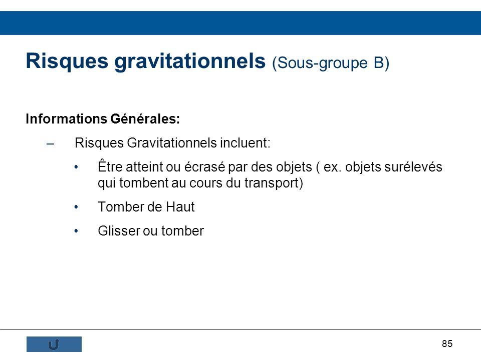 Risques gravitationnels (Sous-groupe B)