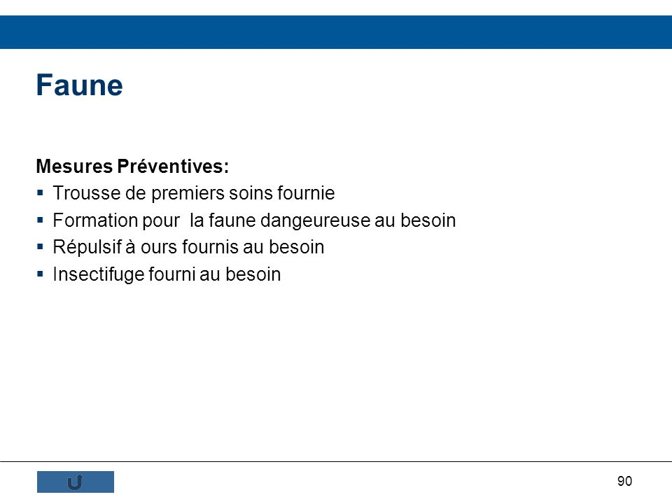 Faune Mesures Préventives: Trousse de premiers soins fournie