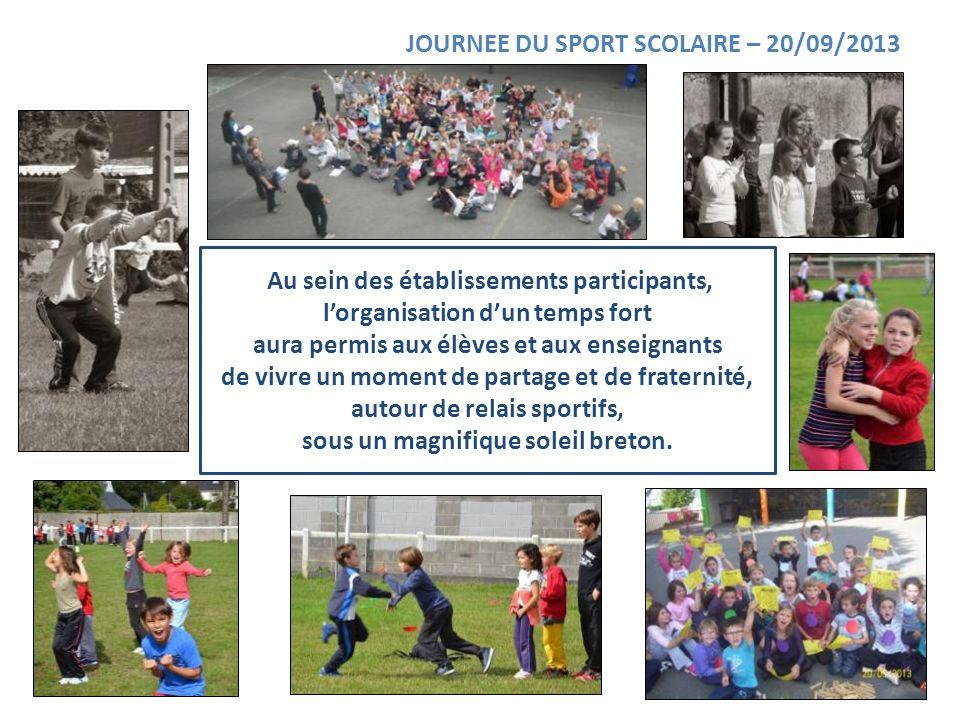 JOURNEE DU SPORT SCOLAIRE – 20/09/2013
