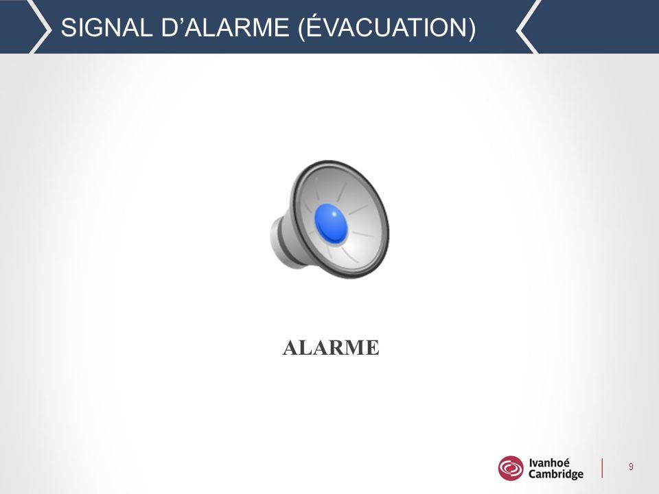 SIGNAL D'ALARME (ÉVACUATION)