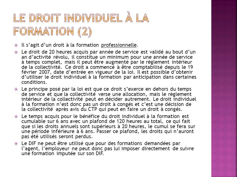Le droit individuel à la formation (2)