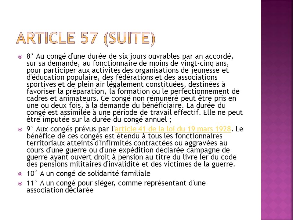 Article 57 (suite)