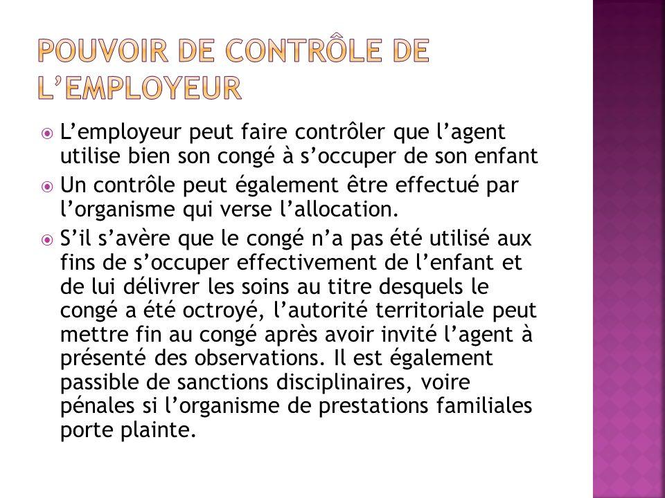 Pouvoir de contrôle de l'employeur