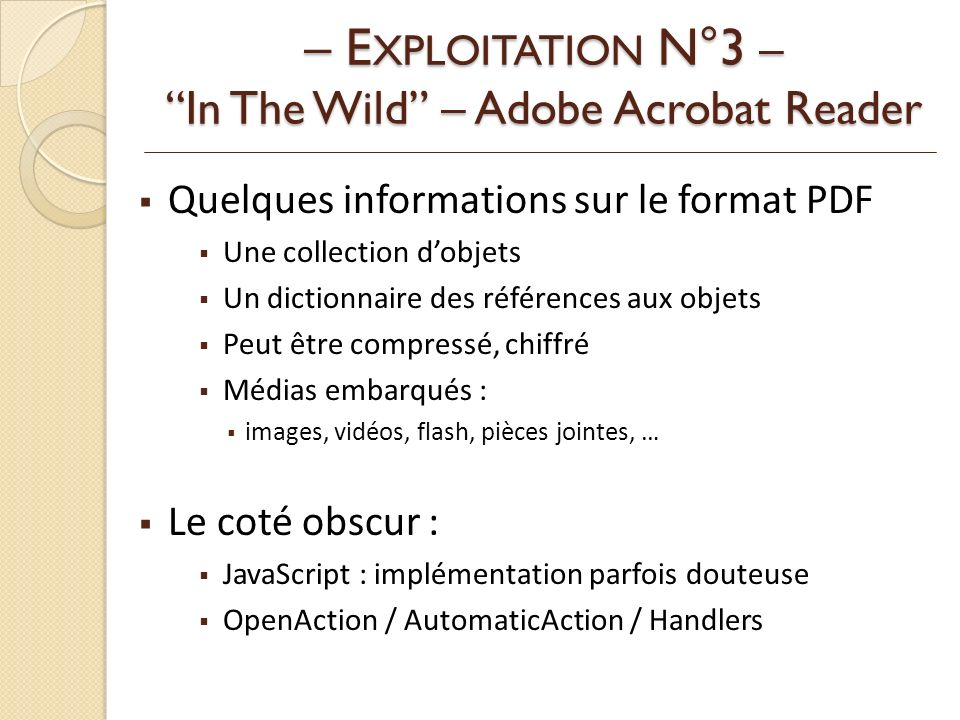 – EXPLOITATION N°3 – In The Wild – Adobe Acrobat Reader