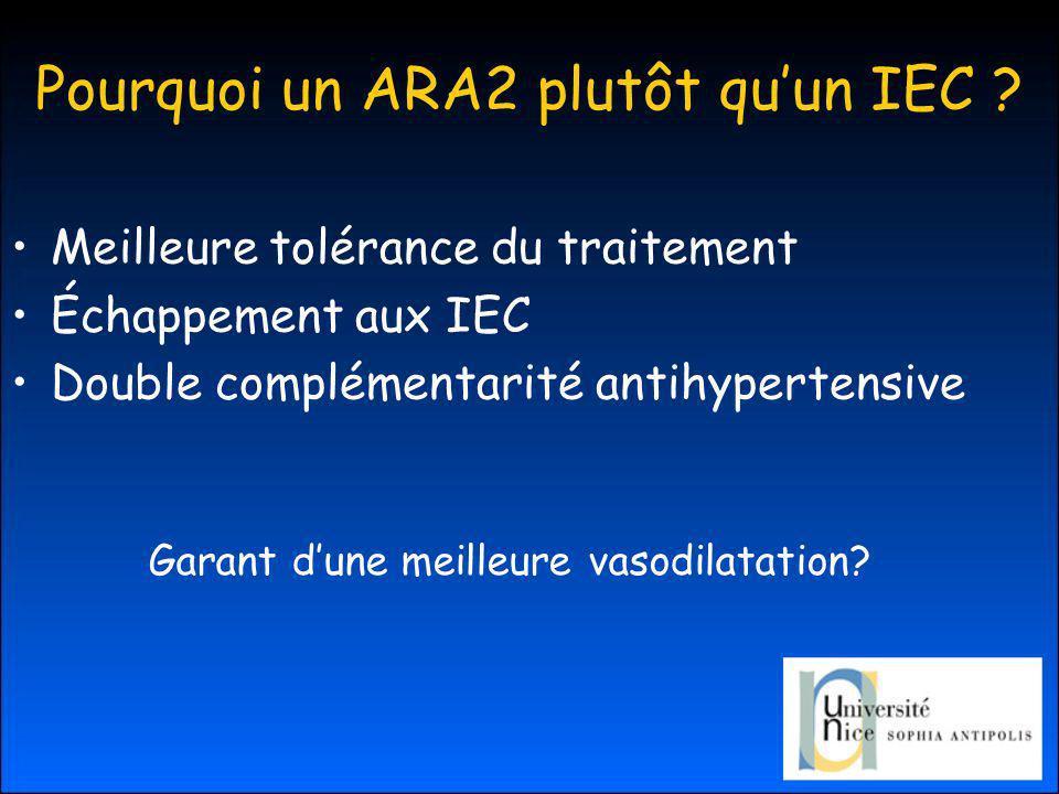 Pourquoi un ARA2 plutôt qu'un IEC