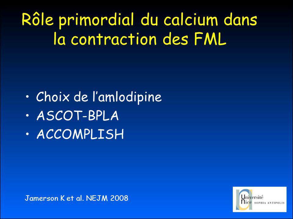 Rôle primordial du calcium dans la contraction des FML