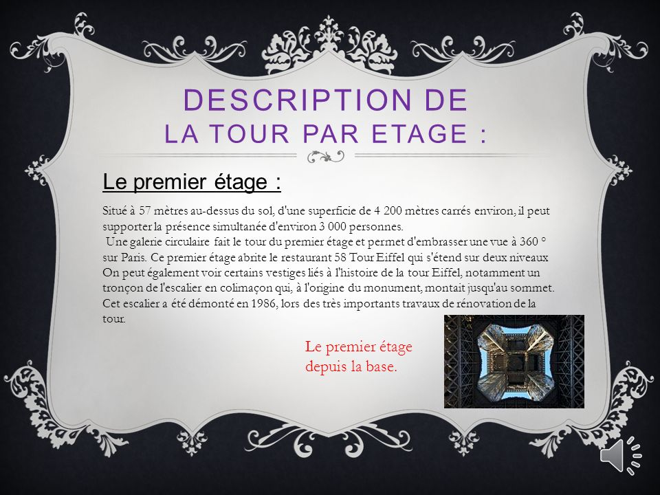 Description de la tour par etage :