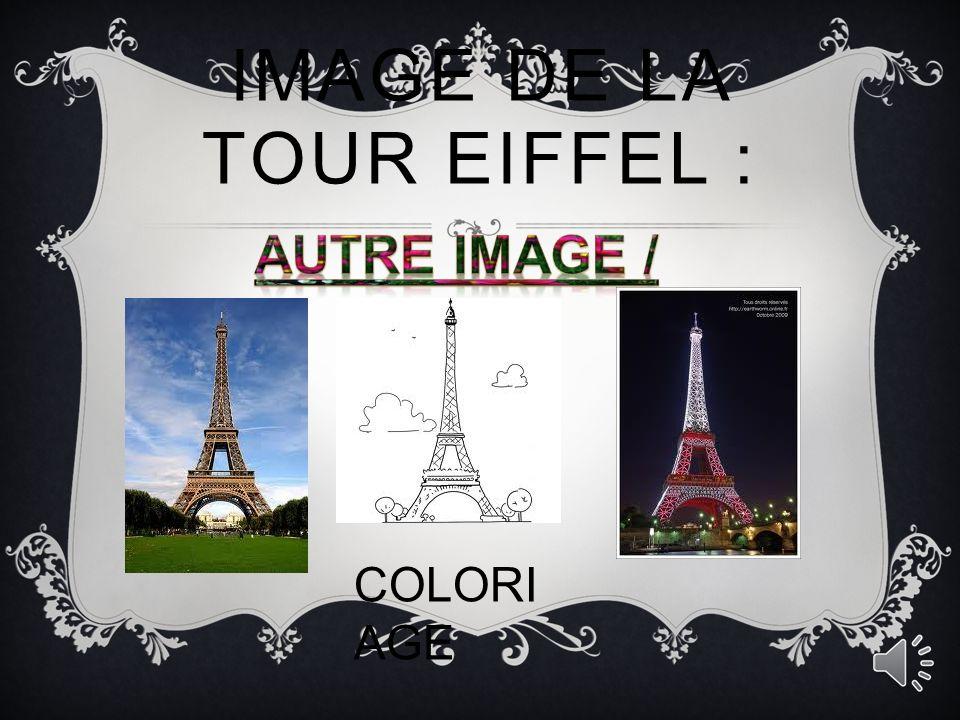 Image de la tour Eiffel :