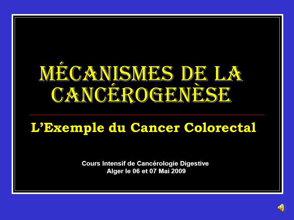 Mécanismes de la Cancérogenèse L'Exemple du Cancer Colorectal