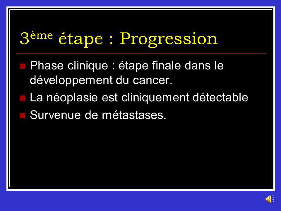 3ème étape : Progression