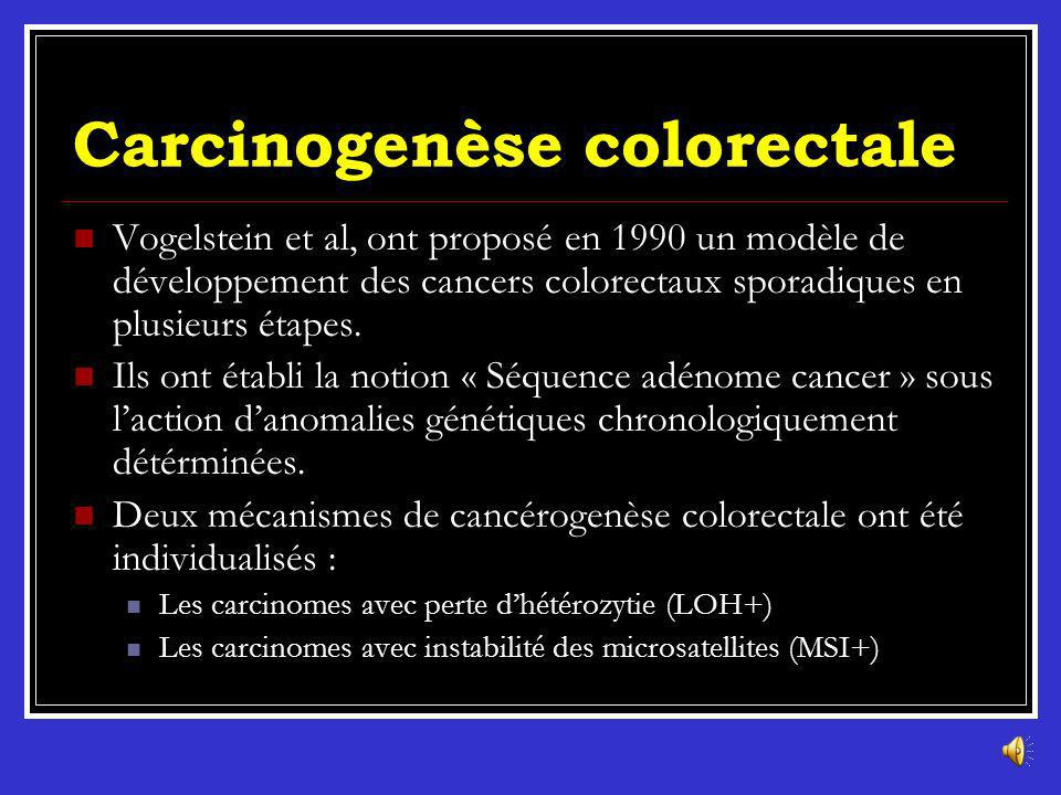 Carcinogenèse colorectale