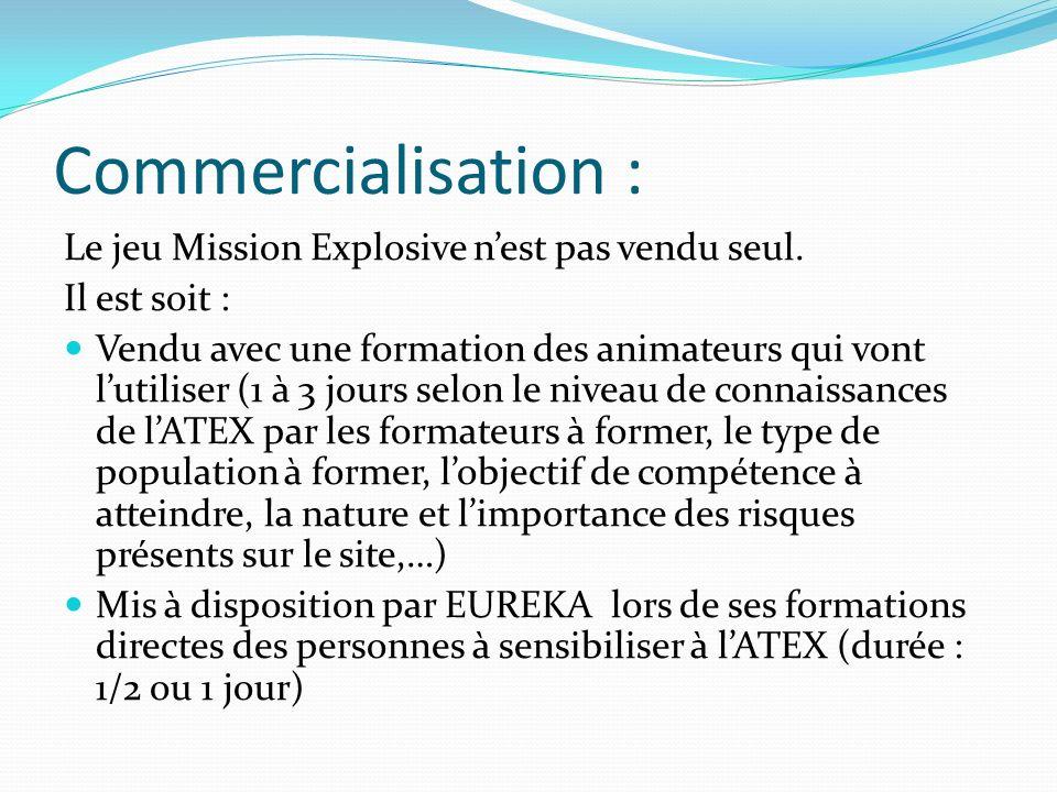 Commercialisation : Le jeu Mission Explosive n'est pas vendu seul.