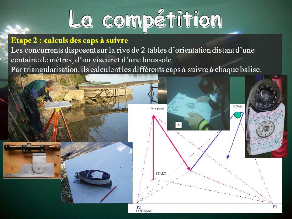 La compétition Etape 2 : calculs des caps à suivre