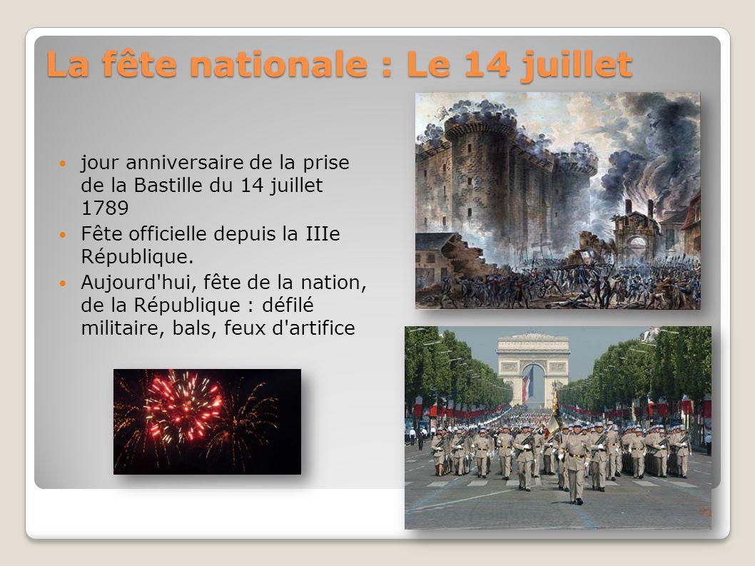La fête nationale : Le 14 juillet