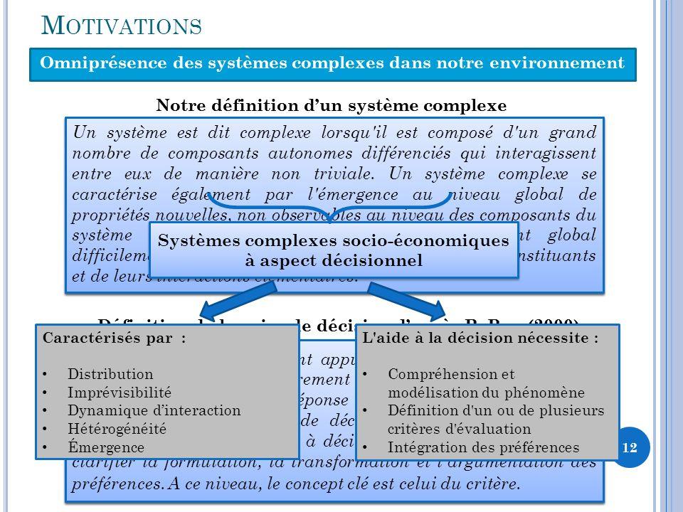 Omniprésence des systèmes complexes dans notre environnement
