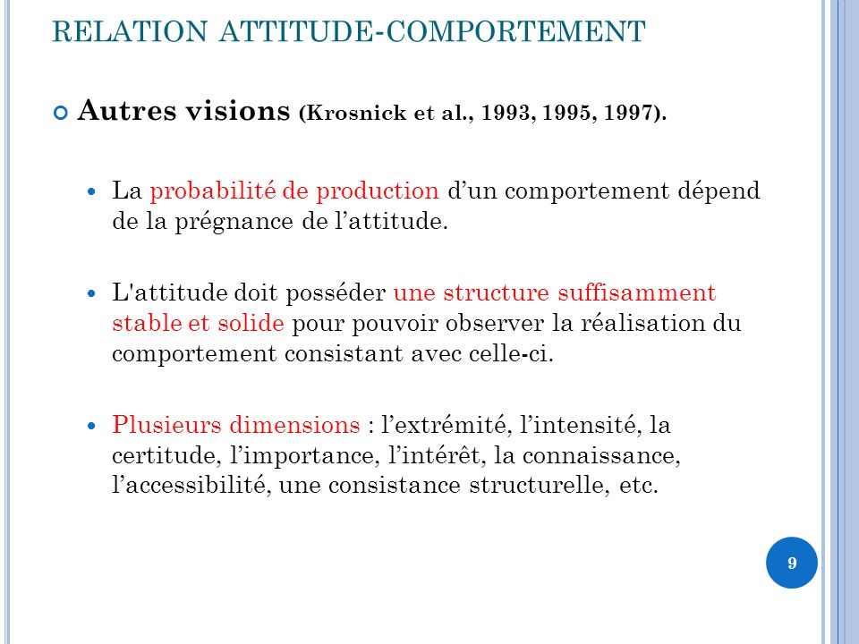 relation attitude-comportement