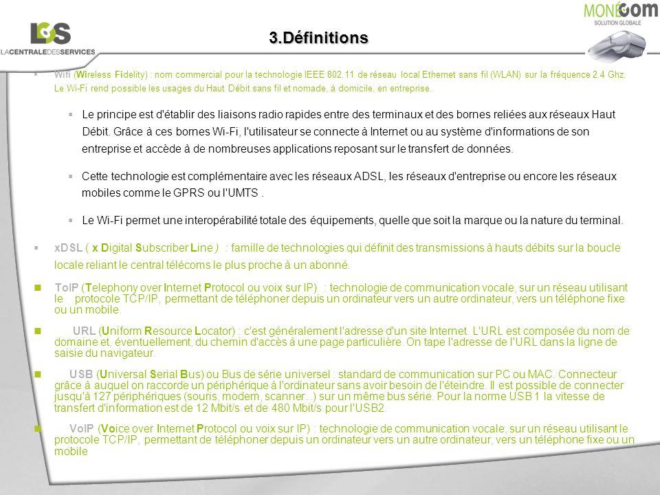 3.Définitions