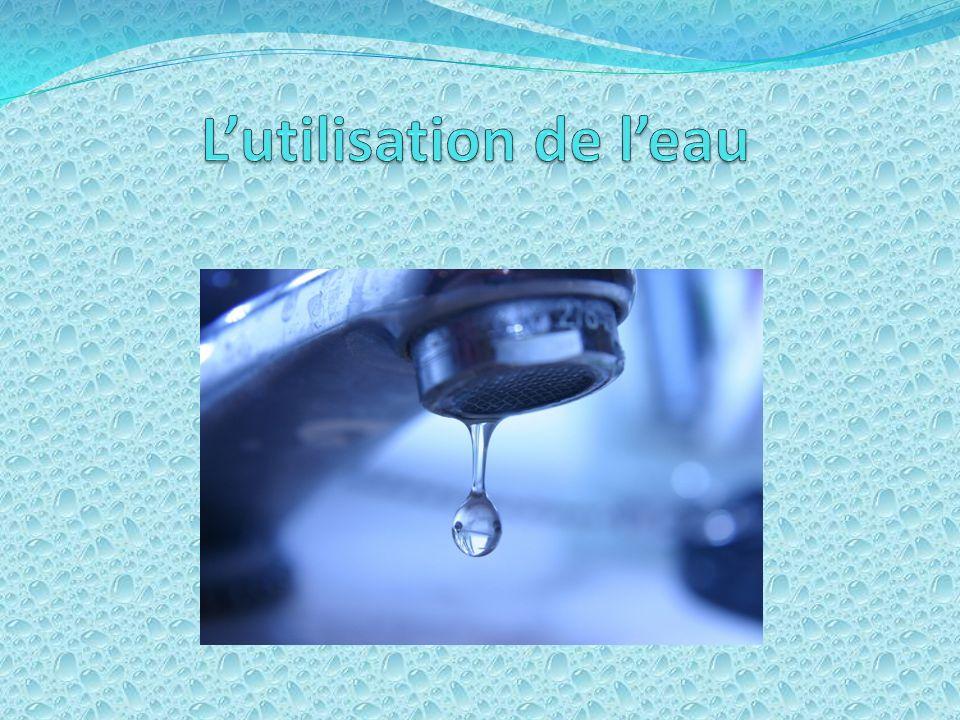L'utilisation de l'eau