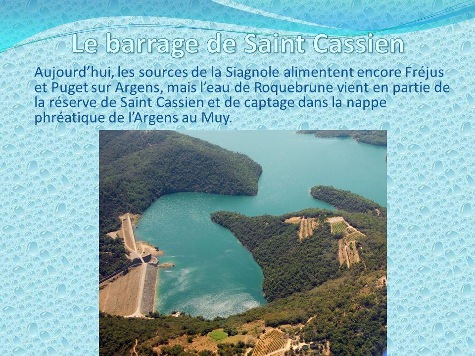 Le barrage de Saint Cassien