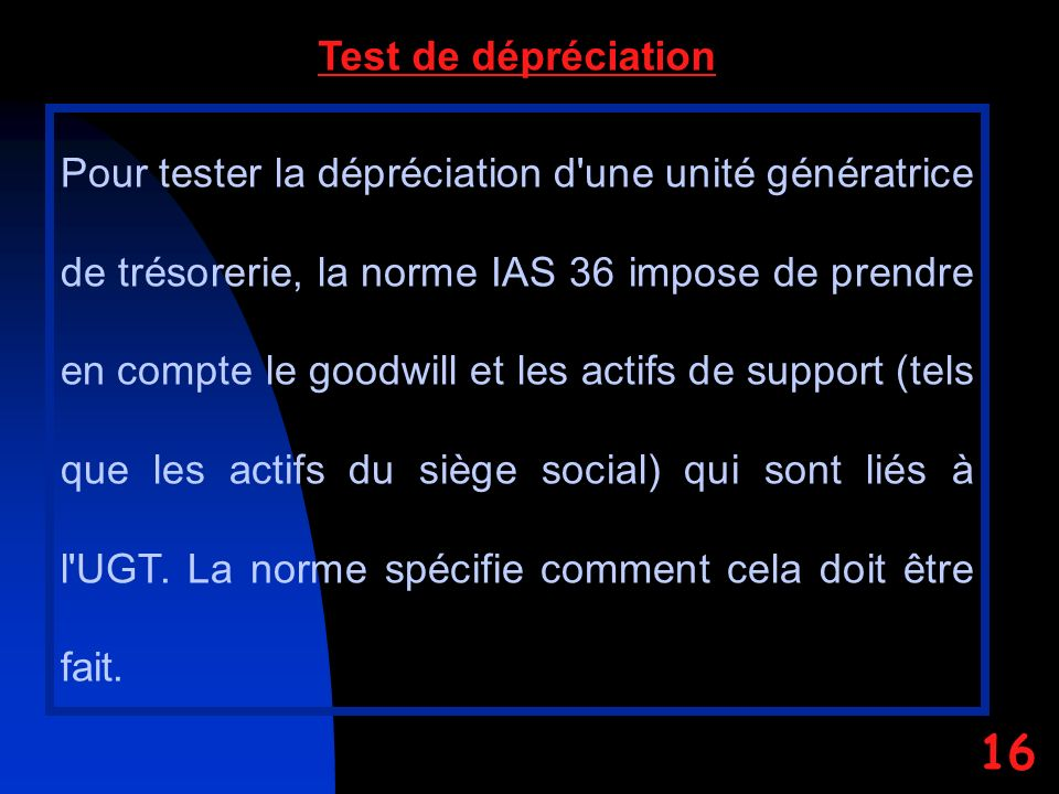 Test de dépréciation