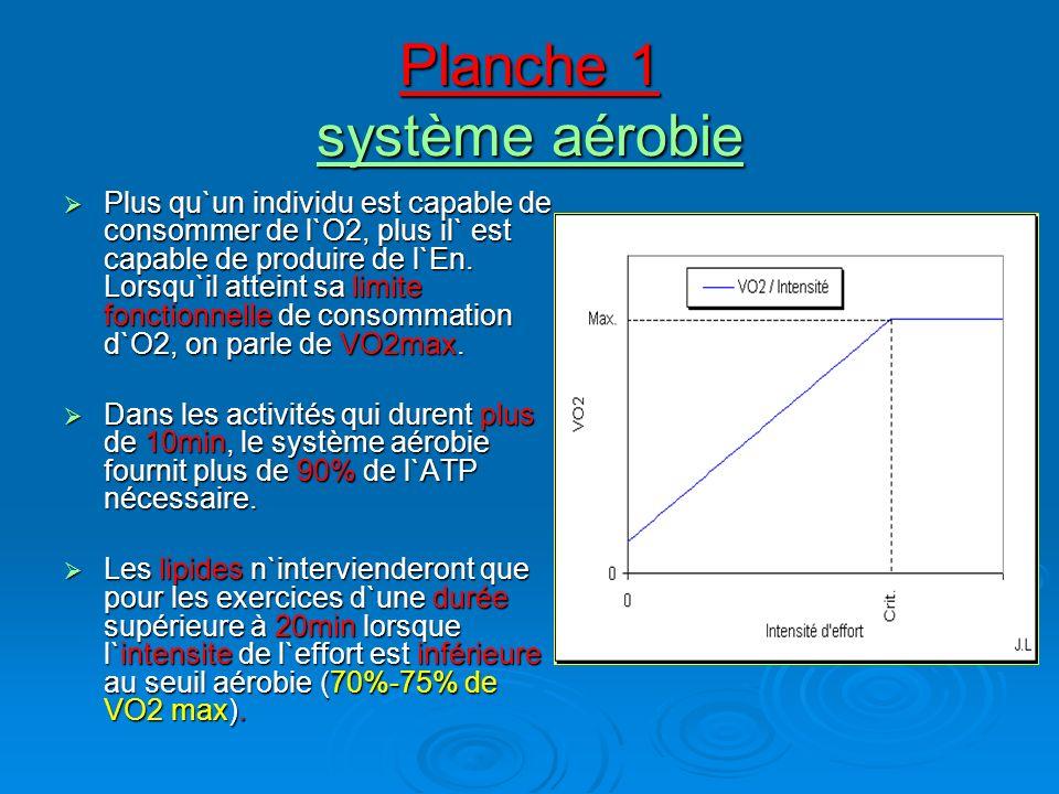 Planche 1 système aérobie
