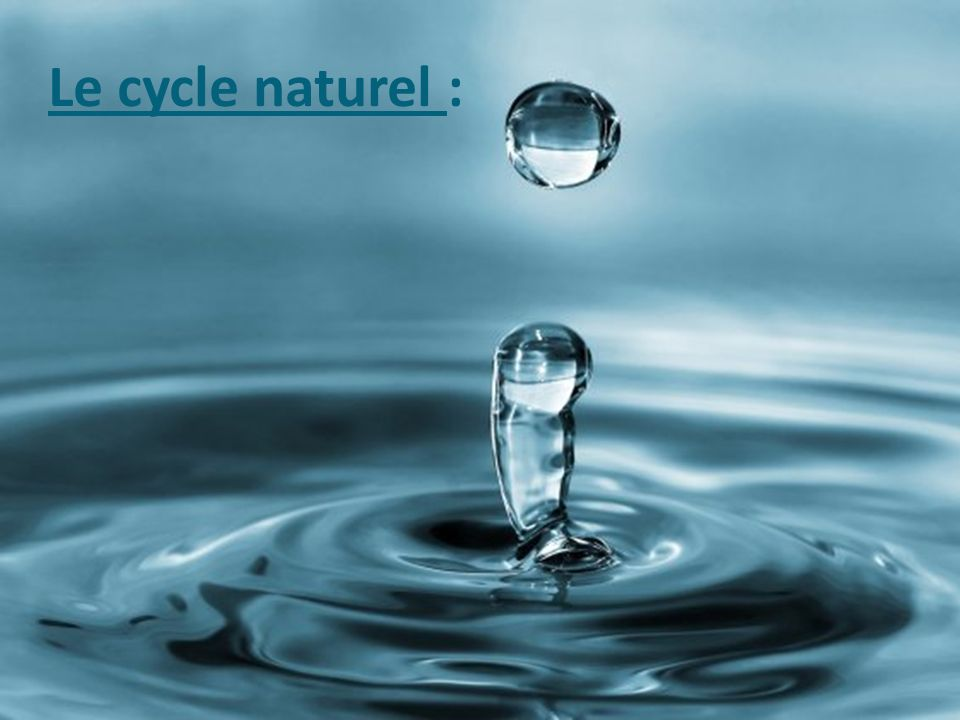 Le cycle naturel :