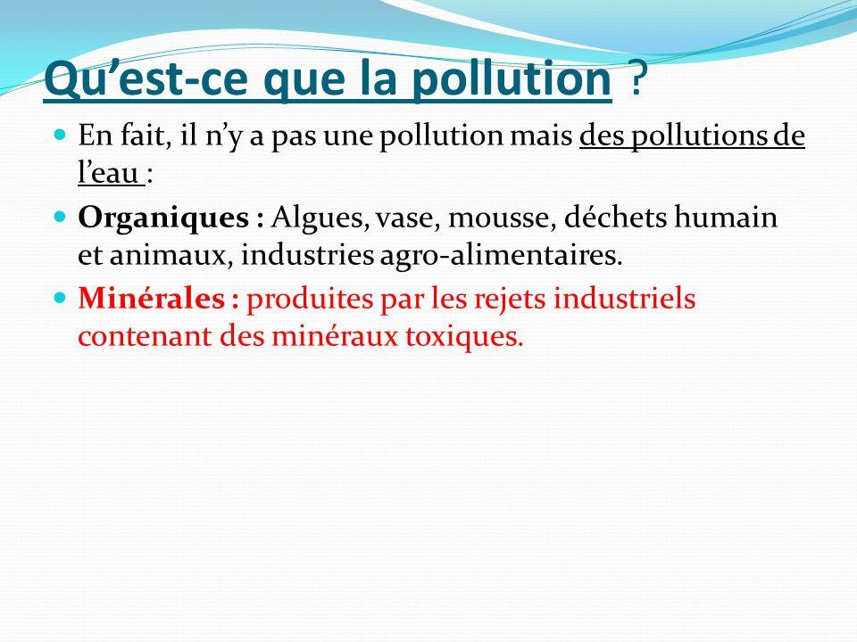 Qu'est-ce que la pollution