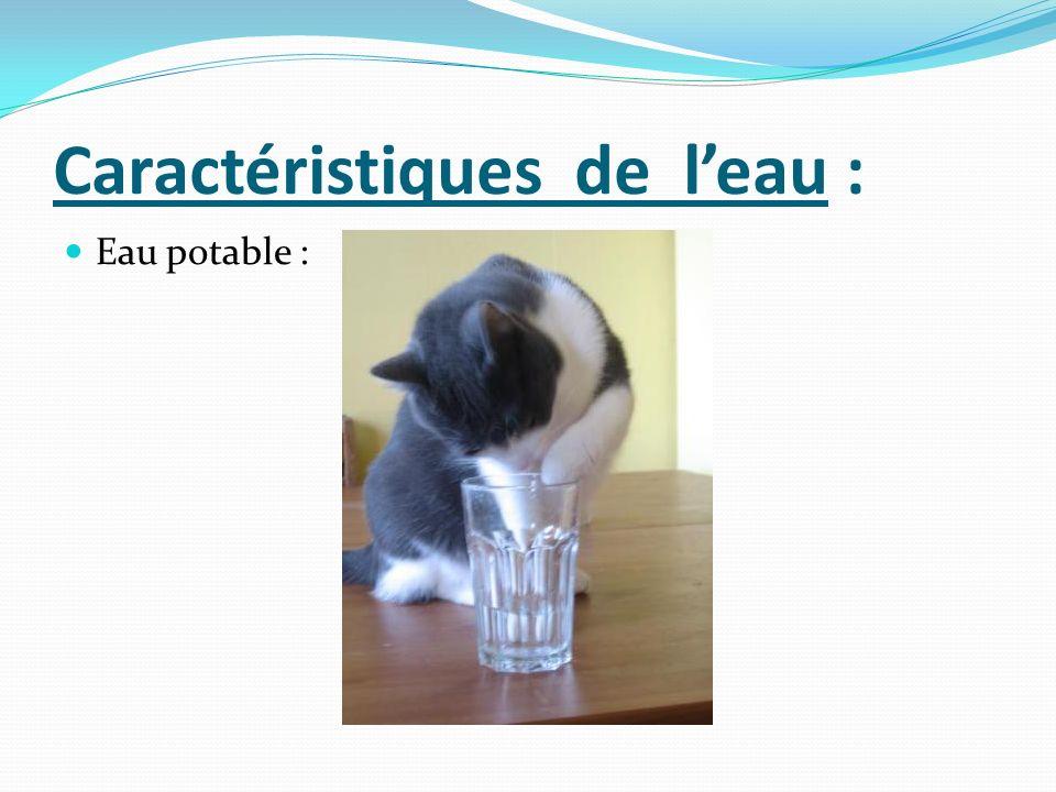 Caractéristiques de l'eau :