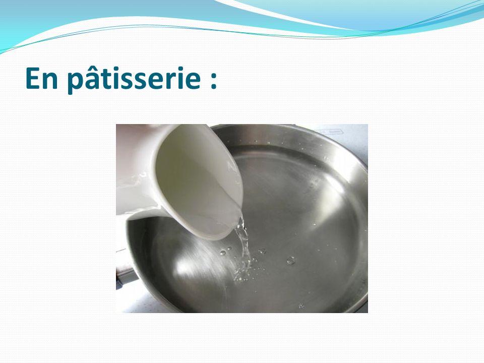 En pâtisserie :
